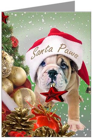 Bulldogs DogBreed-Gifts.com, Bulldog Christmas Cards, Ornaments